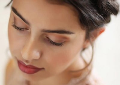 Picture of young woman with makeup