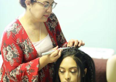 Guest hairstylist Stacey van Gelder
